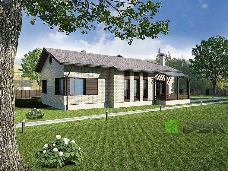 кирпичный одноэтажный дом 134 кв.метров вид 2