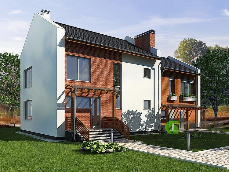двухэтажный дом 351 кв.метров вид 1
