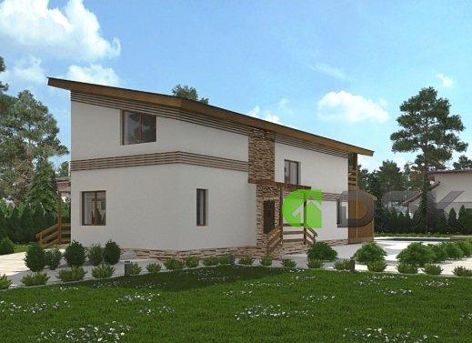 двухэтажный монолитный дом 130 кв.метров вид 2