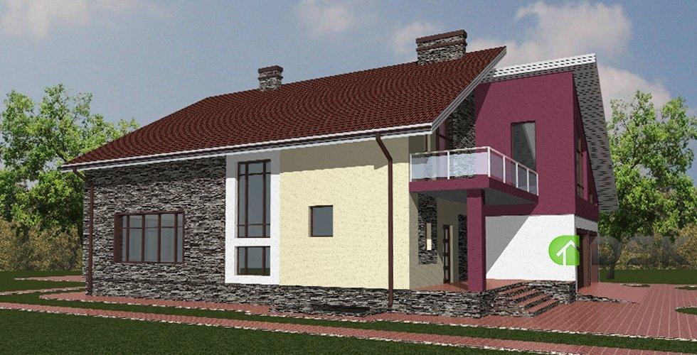двухэтажный монолитный дом 450 кв.метров вид 2