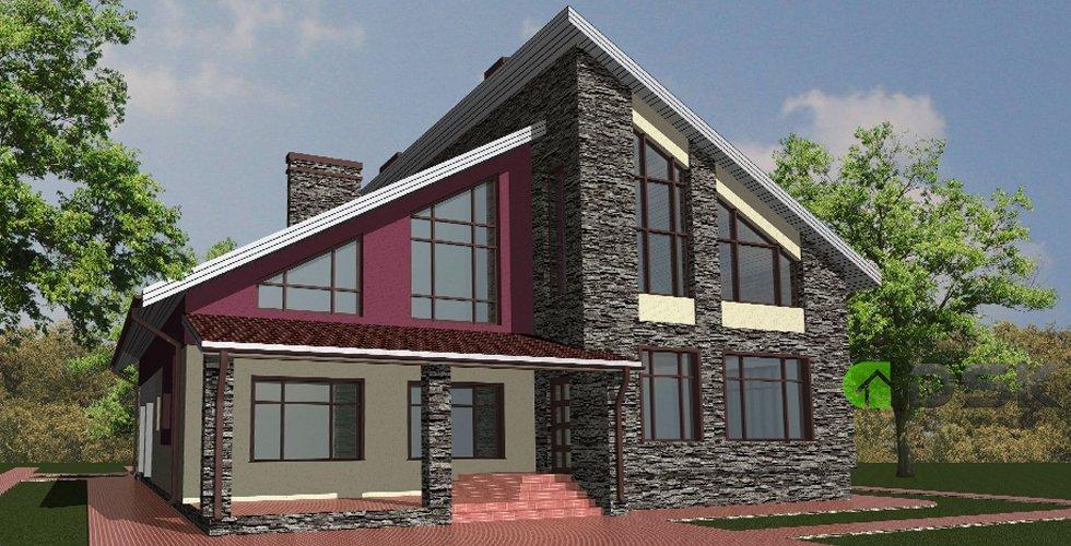 двухэтажный монолитный дом 450 кв.метров вид 3
