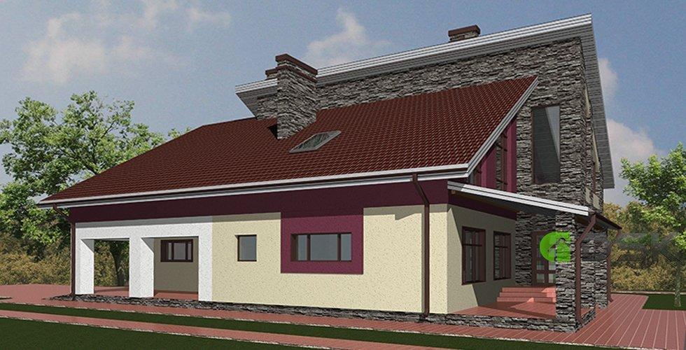 двухэтажный монолитный дом 450 кв.метров вид 4