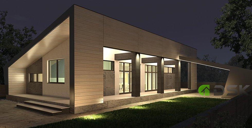 одноэтажный дом 122 кв.метров вид 3
