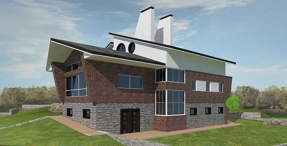 двухэтажный дом 328 кв.метров вид 2