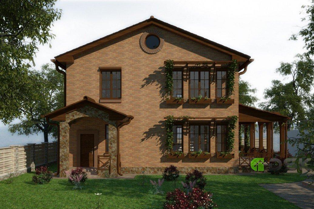 двухэтажный дом 280 кв.метров вид 2