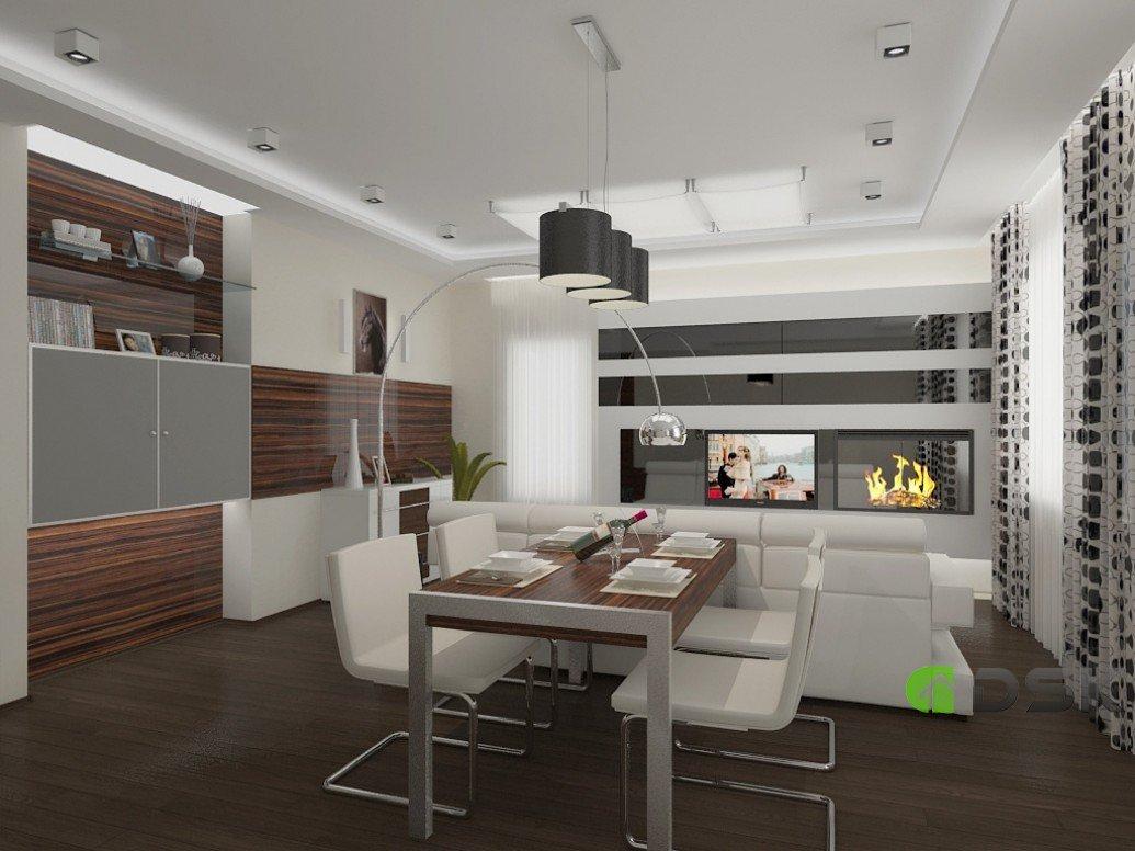 Дизайн проект гостиной двухкомнатной квартиры 54 кв.м.