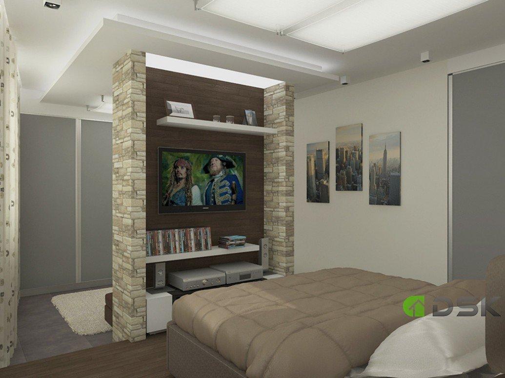 Дизайн проект спальни двухкомнатной квартиры 54 кв.м.