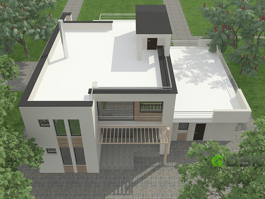 двухэтажный дом из газобетона 272 кв.м. вид 2