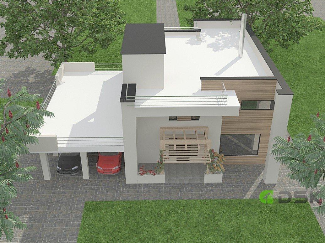 двухэтажный дом из газобетона 272 кв.м. вид 3