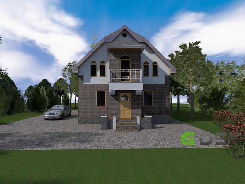 двухэтажный каркасный дом 210 кв.м. вид 3