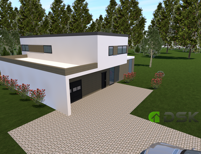 двухэтажный дом из газобетона 215 кв.м. вид 2