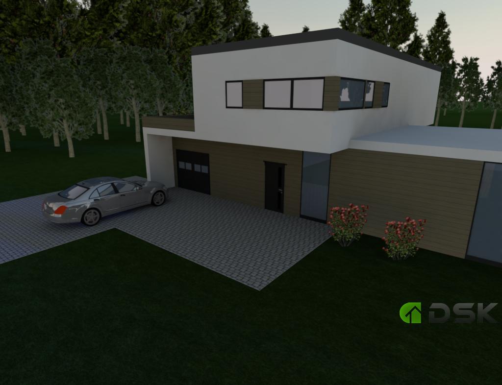 двухэтажный дом из газобетона 215 кв.м. вид 4
