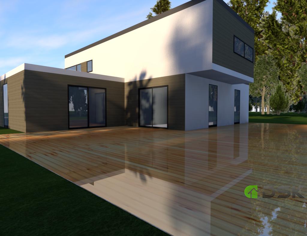 двухэтажный дом из газобетона 215 кв.м. вид 3