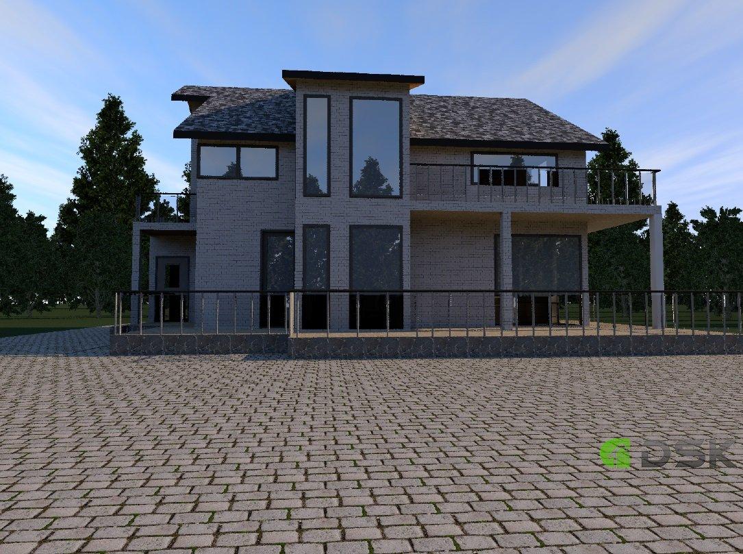двухэтажный кирпичный дом 191 кв.м. вид 2