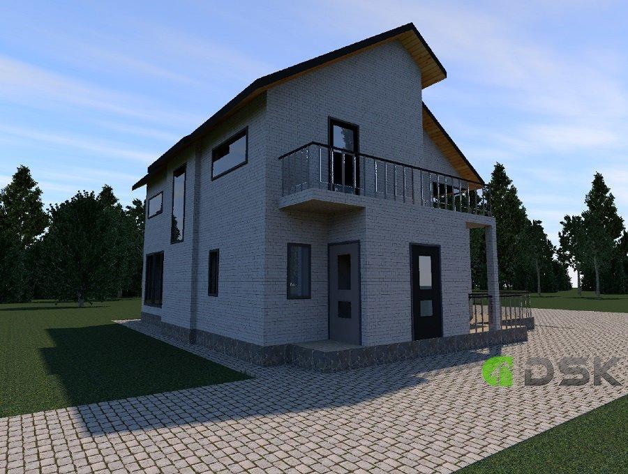 двухэтажный кирпичный дом 191 кв.м. вид 3
