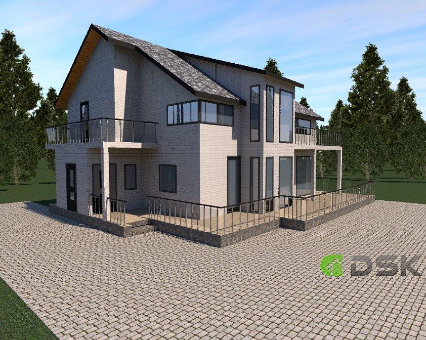 двухэтажный кирпичный дом 191 кв.м. вид 4