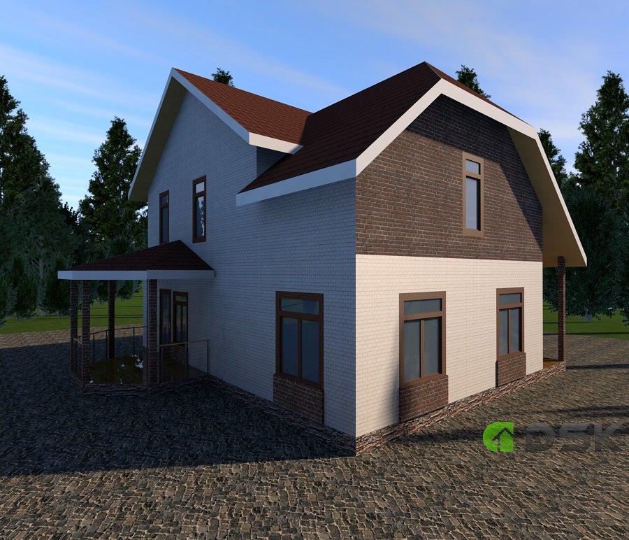 двухэтажный дом 164 кв.метров вид 2